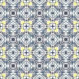 Configuration sans joint abstraite géométrique Fond avec les courses et la tache de pinceau d'aquarelle Kaléidoscope Photo libre de droits