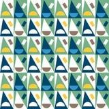 Configuration sans joint abstraite géométrique Fond simple de triangles Images stock