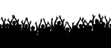 Configuration sans joint Assistance d'applaudissements Encourager de personnes de foule illustration stock