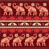 Configuration sans joint avec des éléphants Photos stock