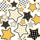 Configuration sans joint avec des étoiles Photographie stock