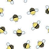 Configuration sans joint avec des abeilles Image stock