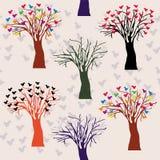 Configuration sans joint avec des arbres Image stock