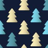 Configuration sans joint avec des arbres de Noël Calibre de vecteur approprié Image stock