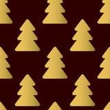 Configuration sans joint avec des arbres de Noël Calibre de vecteur approprié Photos stock