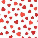 Configuration sans joint avec des coeurs Fond de jour de valentines Élément aléatoire illustration de vecteur