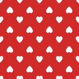Configuration sans joint avec des coeurs Fond de jour de valentines Blanc sur le rouge illustration stock