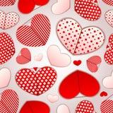 Configuration sans joint avec des coeurs Rose rouge Image stock