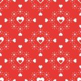 Configuration sans joint avec des coeurs Valentine \ 'jour de s illustration stock