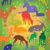 Configuration sans joint avec des deers illustration de vecteur