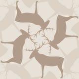 Configuration sans joint avec des deers illustration libre de droits