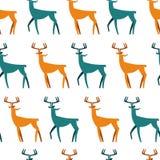 Configuration sans joint avec des deers Fond de Noël Dirigez la texture pour l'emballage de cadeau, carte d'invitation, couvertur illustration de vecteur