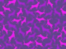 Configuration sans joint avec des deers Fond de Noël La tendance ultra-violette est la couleur de 2018 Vecteur illustration de vecteur