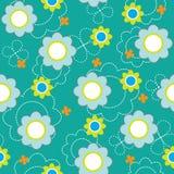 Configuration sans joint avec des fleurs Image stock
