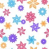 Configuration sans joint avec des fleurs Photo stock