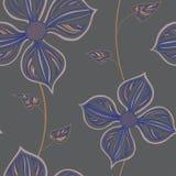 Configuration sans joint avec des fleurs Photos stock
