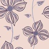 Configuration sans joint avec des fleurs Photos libres de droits
