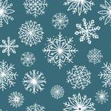 Configuration sans joint avec des flocons de neige Photographie stock libre de droits