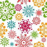 Configuration sans joint avec des flocons de neige Image libre de droits