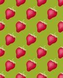 Configuration sans joint avec des fraises Temps de moisson Un dessert doux délicieux Image stock