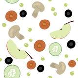 Configuration sans joint avec des fruits et légumes Photos libres de droits