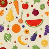 Configuration sans joint avec des fruits et légumes illustration de vecteur