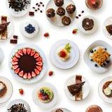 Configuration sans joint avec des gâteaux Photo libre de droits