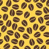 Configuration sans joint avec des grains de café illustration libre de droits