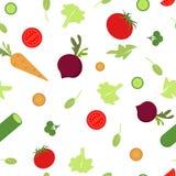 Configuration sans joint avec des légumes Image stock