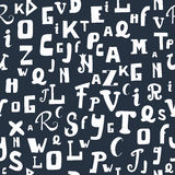 Configuration sans joint avec des lettres Alphabet tiré par la main Backgro mignon Images stock