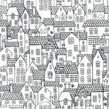 Configuration sans joint avec des maisons illustration de vecteur