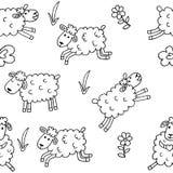 Configuration sans joint avec des moutons Photographie stock libre de droits
