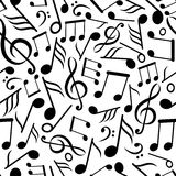 Configuration sans joint avec des notes de musique Photos libres de droits