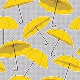 Configuration sans joint avec des parapluies Photographie stock libre de droits