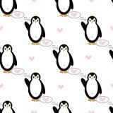 Configuration sans joint avec des pingouins Images libres de droits
