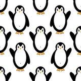 Configuration sans joint avec des pingouins Photographie stock libre de droits