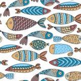 Configuration sans joint avec des poissons Images stock