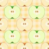 Configuration sans joint avec des pommes illustration de vecteur
