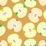 Configuration sans joint avec des pommes illustration stock