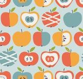 Configuration sans joint avec des pommes Image stock