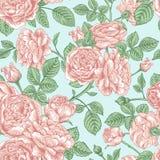 Configuration sans joint avec des roses Image stock