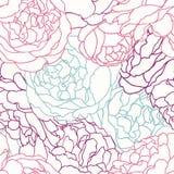 Configuration sans joint avec des roses Photos libres de droits