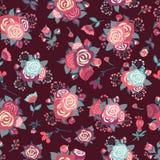 Configuration sans joint avec des roses Image libre de droits