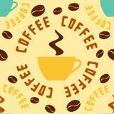 Configuration sans joint avec du café Photographie stock