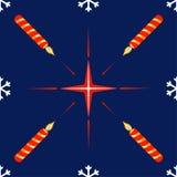 Configuration sans joint avec l'étoile et la bougie de Noël Image libre de droits