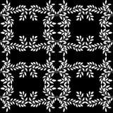 Configuration sans joint avec l'ornement floral Image stock