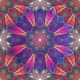 Configuration sans joint avec l'ornement floral Kaléidoscope rond et Image libre de droits