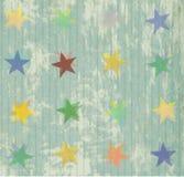 Configuration sans joint avec la texture colorée et les étoiles Photographie stock libre de droits
