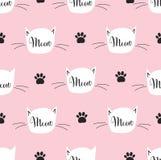 Configuration sans joint avec le chat Modèle de miaulement Images stock