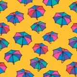 Configuration sans joint avec le parapluie illustration libre de droits